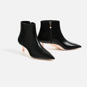 {Zara} Limited Edition Contrasting Sole Ankle Boot